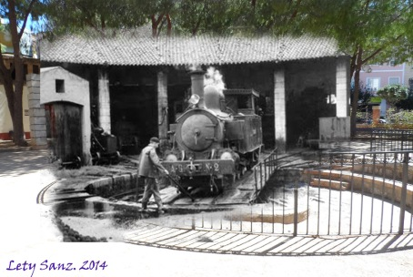 Plataforma giratoria y cocheras, 1950s -> 2014