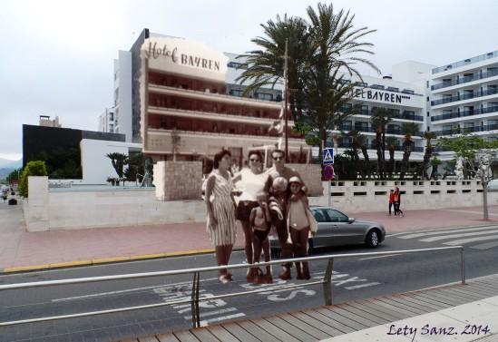 1959 - Mama y tíos en Hotel Bayrén  (2)