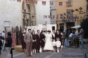 1962 - Boda papás con familia y 2011 feria (2)