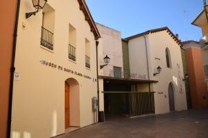 Fachada del actual espacio museístico MAGA (Museo Santa Clara, en lo que fue la antigua Sala de Hombres).